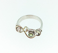 Silver and gold wound ring