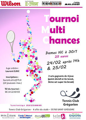tournois tmc dames 2018 tennis club grégorien saint-grégoire rennes bretagne