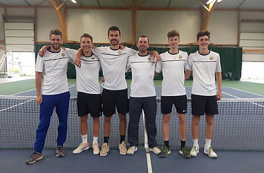équipe sénior hommes tennis club grégorien saint-grégoire rennes bretagne