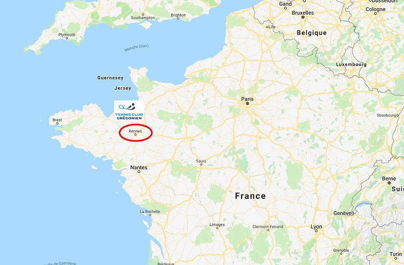 situation Rennes en France