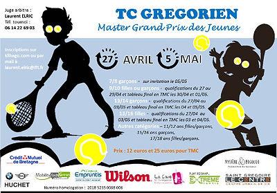 tournois master grand prix des jeunes 2018 tennis club grégorien saint-grégoire rennes bretagne