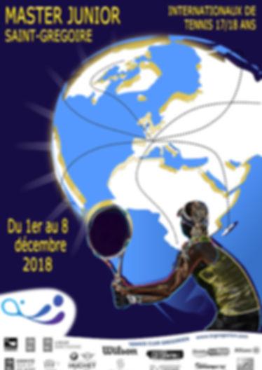Affiche master junior itf 2018 saint gregoire