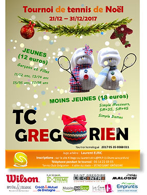 tournois noel 2017 tennis club grégorien saint-grégoire rennes bretagne