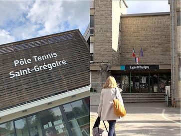 sport études bréquigny tennis club grégorien saint-grégoire rennes bretagne
