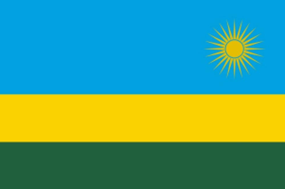 neue Flagge Ruanda