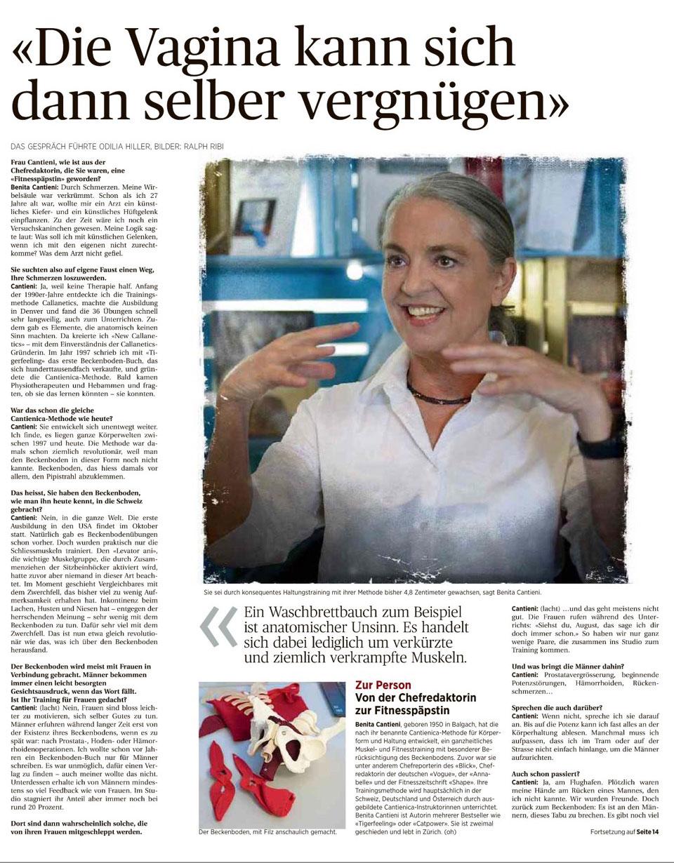 Benita Cantieni,Interview-Ostschweiz