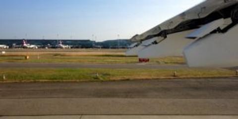 Flugzeug vor Start