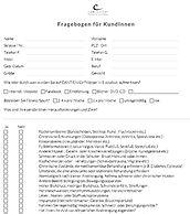 Kundenfragebogen