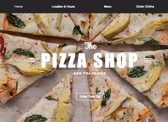 Pizza Restaurant Website Template | WIX