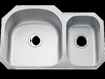 """32"""" x 25"""" undermount stainless steel sink"""
