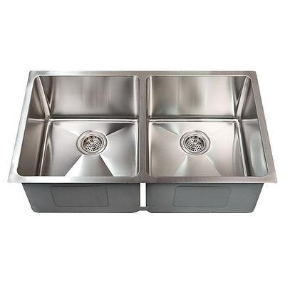 "Asteria 29"" x 18"" undermount stainless steel sink."