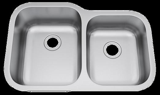 """32"""" x 21"""" undermount stainless steel sink"""