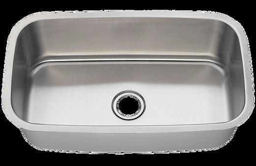 """31"""" x 18"""" undermount stainless steel sink"""