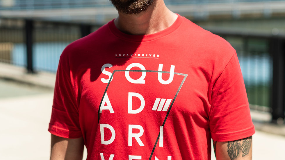 """""""Driven"""" Tee Red"""