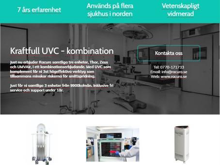 Kraftfull trio av UVC - produkter