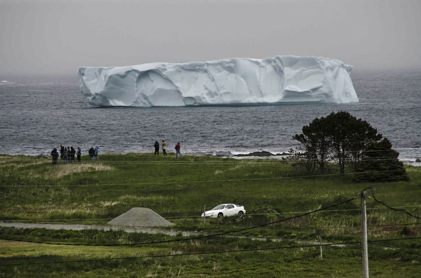icebergs from property