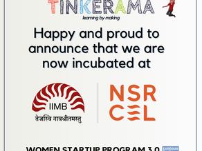 Tinkerama now incubated at NSRCEL, IIM Bangalore