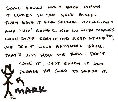 Enjoy Mark's Good Stuff