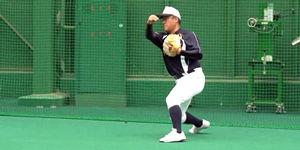 15二塁手併殺正面のゴロ300.jpg