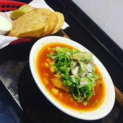 Pozole tonight at la fogata bar and restaurant 1157 st Clair av west #pozoletime #pozolenight #mexic
