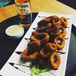 #Calamares #corona #lafogata🔥 #bar #restaurant #stclair