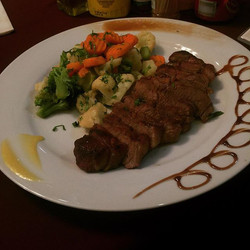 Today special our New York steak served with your choice of two side order come and join us at 1157