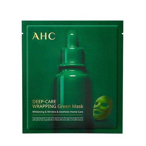 AHC DEEP CARE WRAPPING GREEN MASK, 4PCS