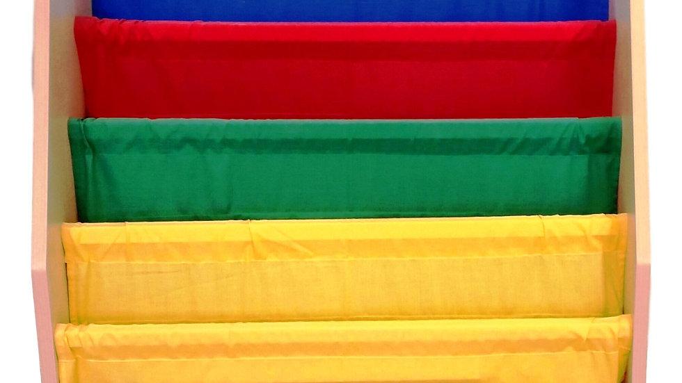 Minibibliothèque en tissus couleurs primaires