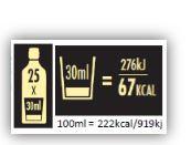 Energiasisällöt tulevat väkevien alkoholijuomien kuluttajapakkauksiin kolmen vuoden kuluessa