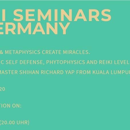 Reiki Seminar in Germany (27 Feb - 17 Mar 2020)