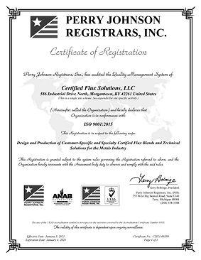Certified Flux Solutions, LLC Final Cert