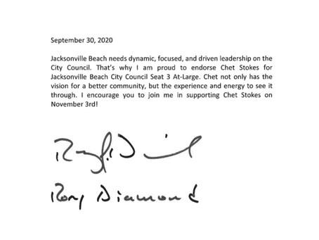 Rory Diamond Endorsement