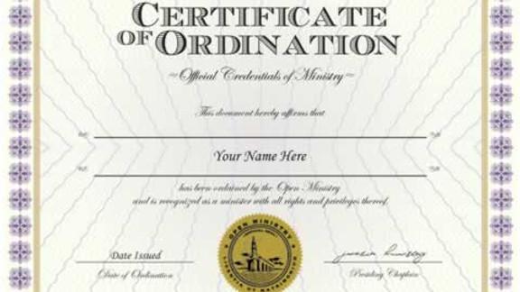 Pastoral / Ministerial Ordination