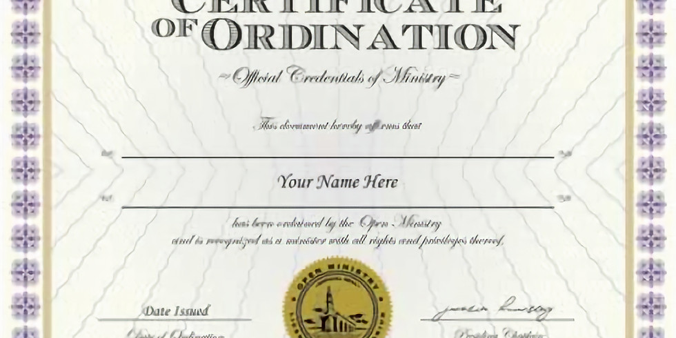 Pastoral / Ministerial Ordination