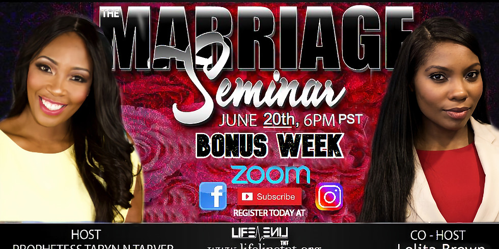 Marriage Seminar *Bonus Week*