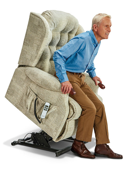 Lynton Knuckle Royale Fabric Electric Riser Recliner