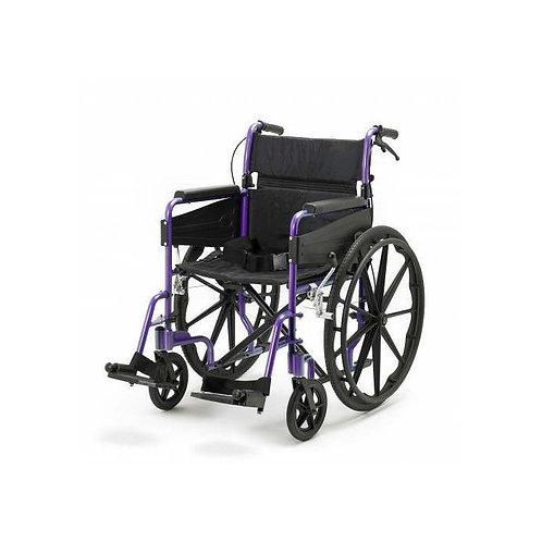 Escape Lite Self Propelled Wheelchair - Purple - Wide