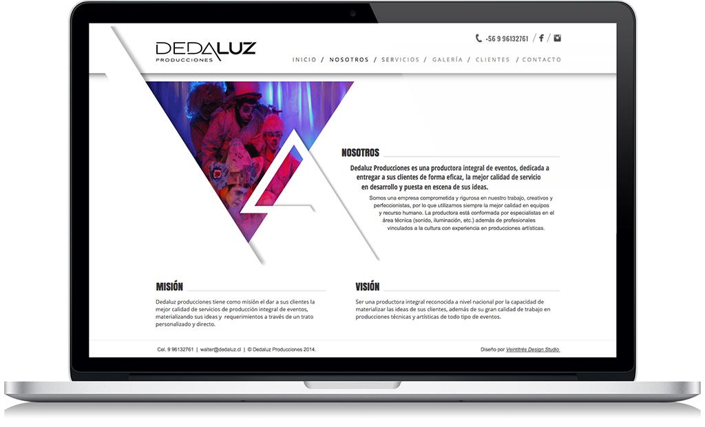 dedaluz sitio web