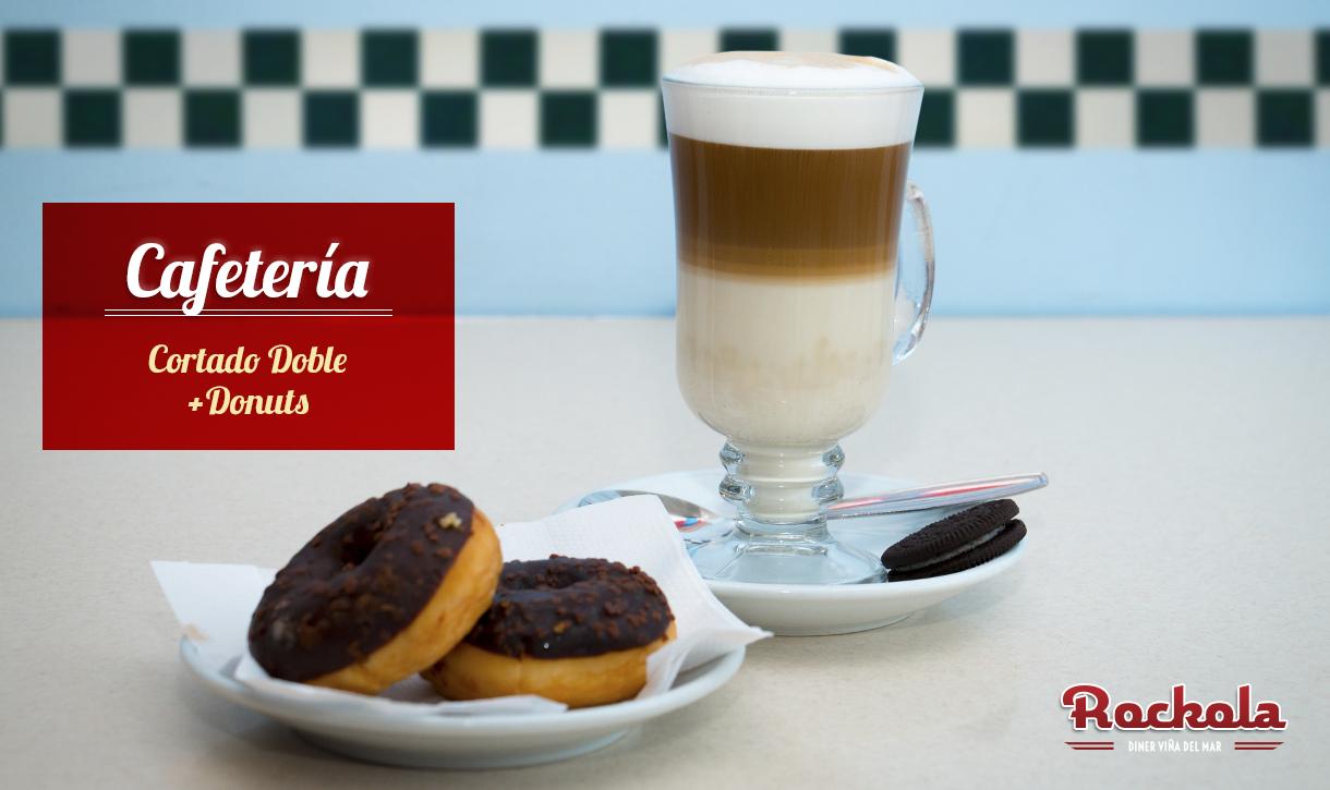 Cafetería-Cortado-donuts