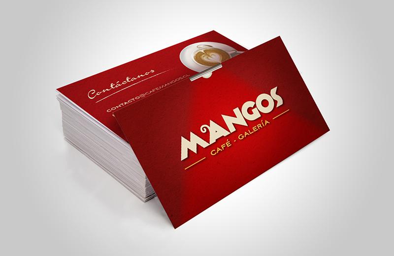 Tarjeta de Presentación café mangos