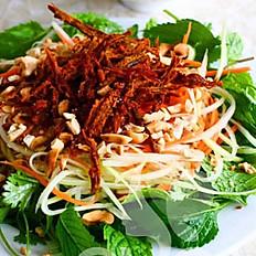 Papaya salad with beef jerky