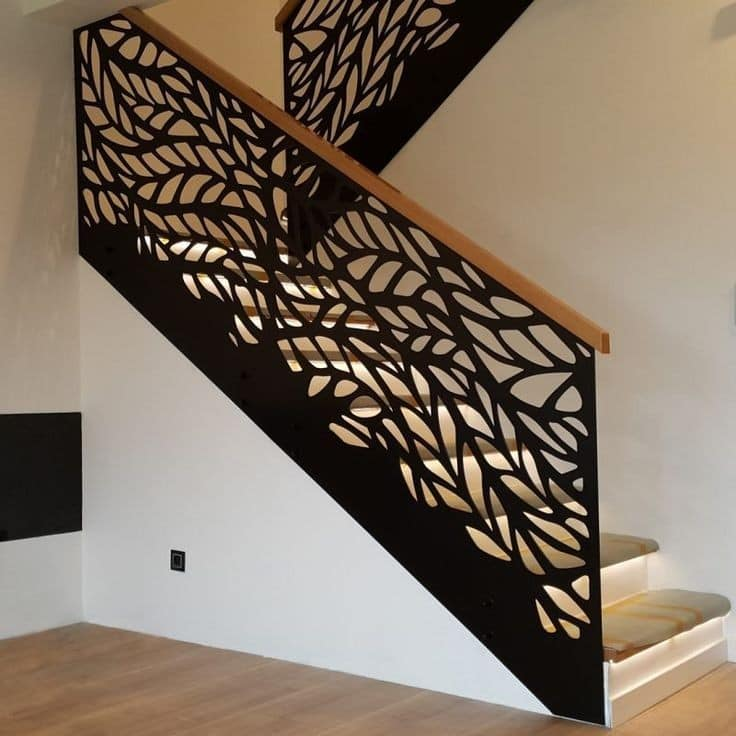 Inside railings / parapets