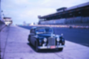 1955 Jaguar MK VII at the Nurburgring owned by Glenn & Dee Dee Flock, summer 1963