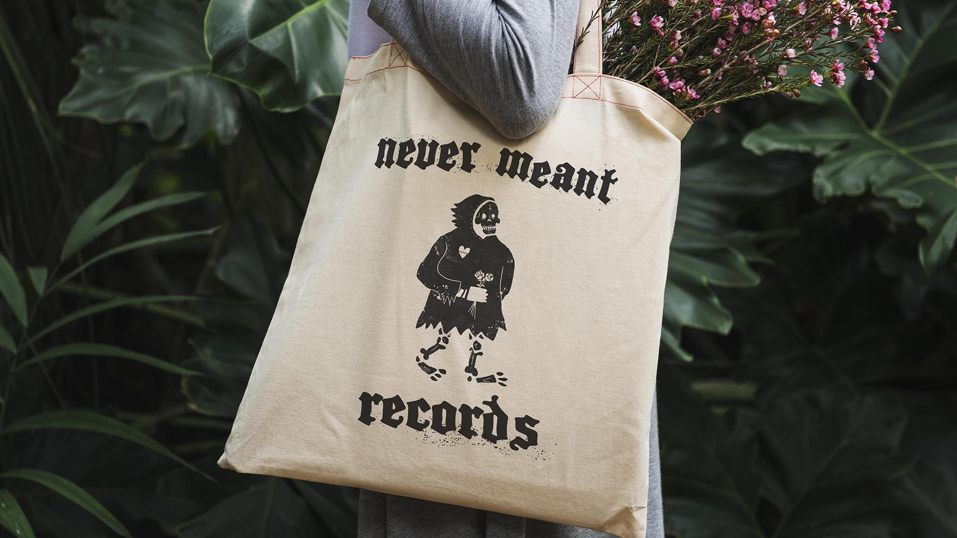 Never Meant Screen Print Tote Bag