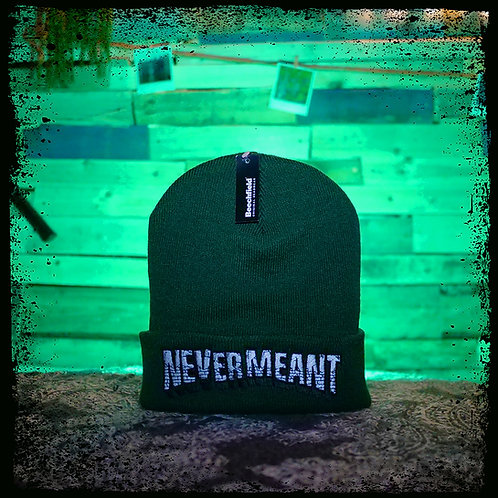 Never Meant - Green Beechfield Embroidered Beanie