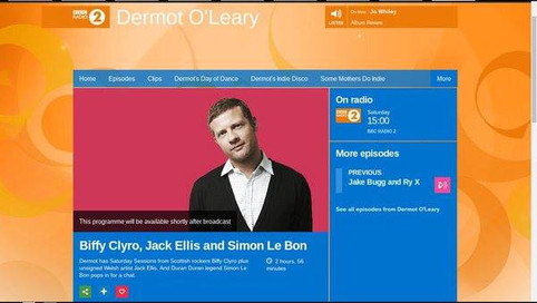 Dermot O'leary Show BBC Radio 2