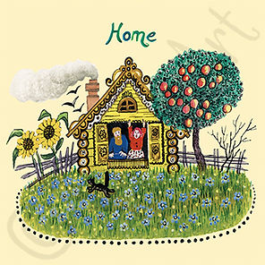 Home. Yuri Vasnetsov Greeting Card