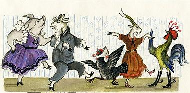 Yuri Vasnetsov illustrations Dancing ani