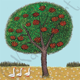 Rowan Tree Greeting Card