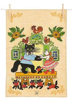 Folk art cat design, cat gifts, home gif